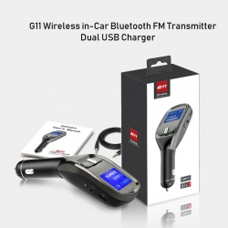 G11 Wireless in-Car Bluetooth FM Transmitter Dual USB Charger